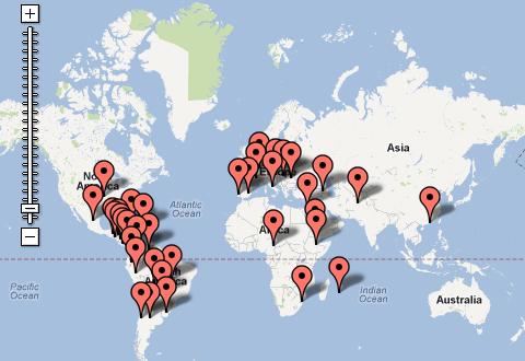 Ya tenemos el mapa mundial de los socios de los Clubs JG